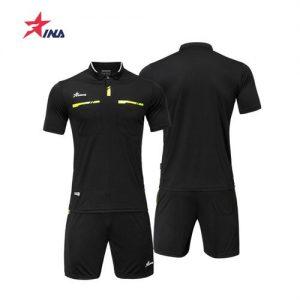 Men Soccer Uniform Professional Custom Referee Jersey Shirt Football Jersey Set Judge Polyester discountshub