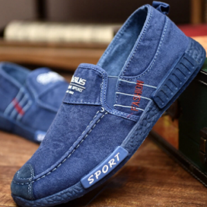 Men Washed Canvas Comfy Soft Sole Slip On Casual Shoes discountshub