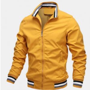 Mens Sport Outdoor Loose Zipper Up Stand Collar Solid Lightweight Jacket discountshub