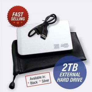 Two Terabyte External Hard Drive - USB 3.0 - 2TB discountshub