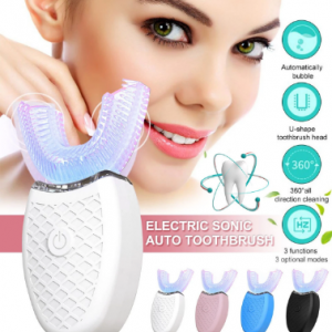 Ultrasonic Fully Automatic 360° U-Shaped Electric Toothbrush LED Light Clean Teeth Whiten Oral Cleaning discountshub
