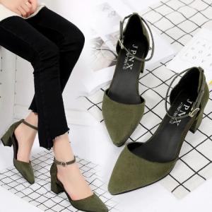 Women Sandals Fashion Low Heels Sandals Summer Shoes Woman Casual Block Heel Middle Hollow Career Pumps Square heel Women shoes discountshub