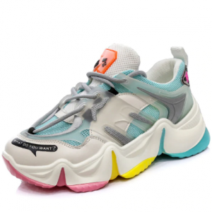 2020 Hot Summer Women Sneakers Vulcanize Breathable Rainbow Color Fashion Casuals Height Increasing Female Chunky Ladies Shoe discountshub
