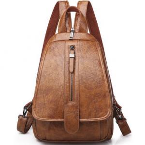 2020 Vintage Women Backpack for Ladies Travel Back Bag Chest Shoulder Bag Good Quality Oil Wax PU Leather Female Backbag Mochila discountshub