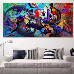 Abstract Colorful Canvas Hanging Paintings Home Decor Wall Art discountshub