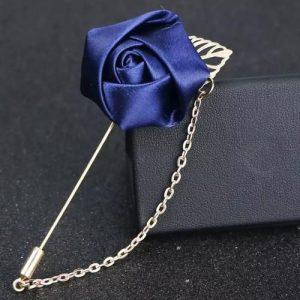 Blue Rose Men's Brooch Clips discountshub
