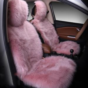 Car Seat Cover Winter Plush Fur Car Seat Protector Auto seat covers Car Seat Covers Fits Most Car, Truck, SUV, or Van (Pink) discountshub