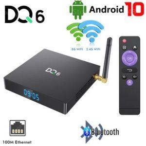 DQ6 Android 10.0 TV Box 4GB RAM 32GB 64GB ROM 2.4G 5G MIMO WiFi Media Player RK3318 4K HD Bluetooth Smart Set Top Box 2GB 16GB discountshub