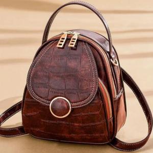 Fashion Quality Soft Leather Vintage Shoulder Backpack bag Women Multi-Function samll Backpack Travel Purse phone Bags B43-20 discountshub