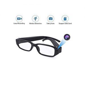 Full HD Glasses Sport Camera Eyewear DVR Video Recorder Eyewear DV Cam-Black discountshub