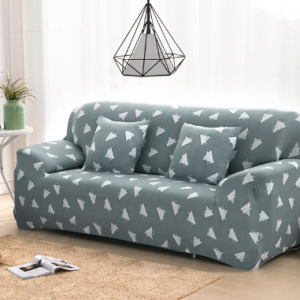 Green Triangle 1/2/3/4 Seater Home Soft Elastic Sofa Cover Easy Stretch Slipcover Protector Couch discountshub
