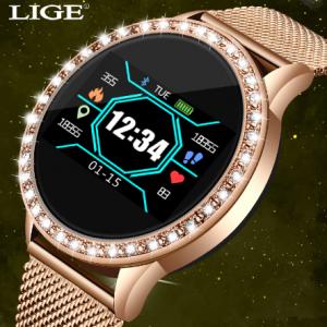 LIGE Fashion smart watch women men Sport waterproof clock Heart rate sleep monitor For iPhone Call reminder Bluetooth smartwatch discountshub