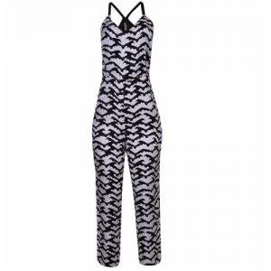 Ladies Jumpsuit - Black and White discountshub