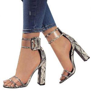 Ladies Summer High Heel Shoes Peep Toe Platform Sandals discountshub
