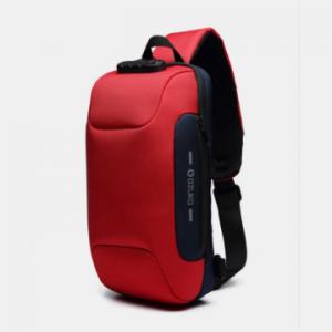 Men Anti-theft USB Charging Multi-Layers Waterproof Crossbody Bag Chest Bag Sling Bag discountshub