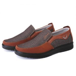 Men Shoes Casual Antiskid Loafers Leather Round Toe Shoes discountshub