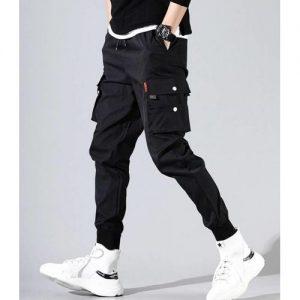 Men's Straight Jeans Wide Leg Pants -Black discountshub