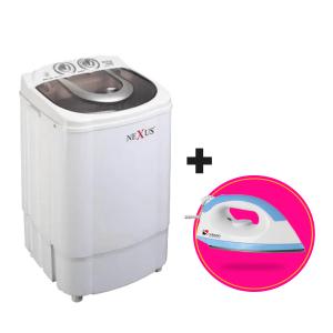 Nexus Single Tub Washing Machine 4.5kg Nx-wm-4.5st + Saisho Dry Iron discountshub