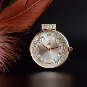 Shengke Creative Women Watches 3 Colors Stylish Japanese Quartz Ladies Watch Luxury Stainless Steel Clock Reloj Mujer Wife Gift discountshub