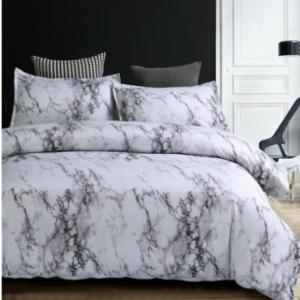 Simple Elegant Style Stone Stripe Pattern Bedding Set Soft Quilt Cover Bedroom Home Bedding Sets discountshub