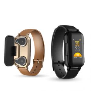T89 TWS Bluetooth Earphone Smart Watch Touch control Smart Watch IP67 Support Siri BT Call music Fitness Bracelet Smart Band discountshub