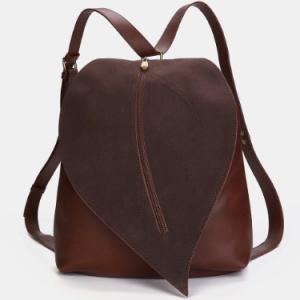 Women Leaf Shape PU Crossbody Bag discountshub