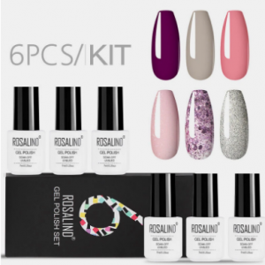 6PCS Gel Nail Polish Set Solid Color Nail Kit For Manicure Vernis Semi Permanent 7ML Gel Kit Top And Base All For Manicure discountshub