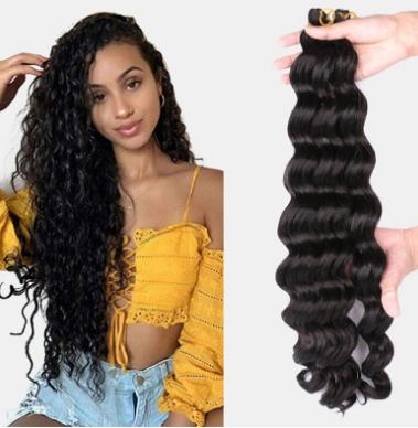 9 Colors Crochet Box Braids Hair Bundles Chemical Fiber Little Braid Ponytail Hair Ring discountshub