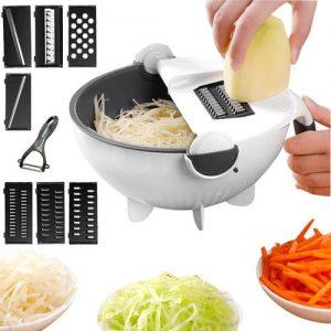 9 In 1 Drain Basket Veggie Chopper/Cutter discountshub