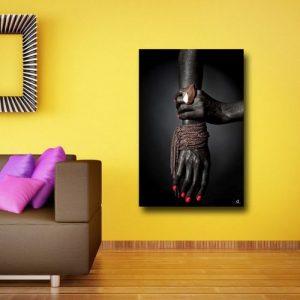 Awesome Black Tribe Unite Wall Canvas discountshub