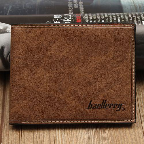 Baellerry Fashion Mens Leather Wallet Holder Purse Pocket Dark Coffee discountshub
