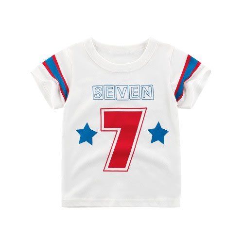 Boys' 7 Print T-shirt - White discountshub