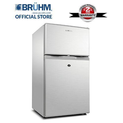 Bruhm Double Door Fridge - BRD-105 (Silver) discountshub