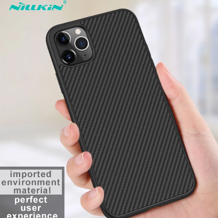 Case for iPhone 12 Mini 11 Pro Max XR X XS Max iPhone11 Casing Nillkin Synthetic Fiber Carbon Plastic Cover For iPhone 11 Case discountshub