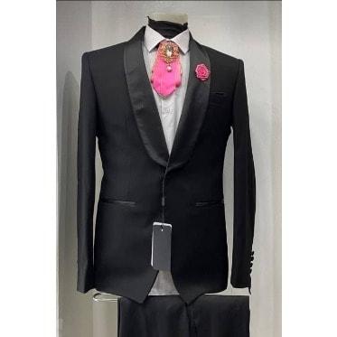 Casilla Men Suit For Wedding And Special Occasions -Black discountshub