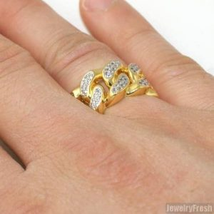 Iced Out Cuban Link Ring discountshub