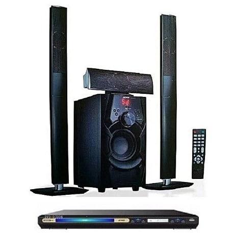 Jiepak Heavy Duty 3.1 Channel Bluetooth Home Theater System - Jp-c1 + Powerful Dvd discountshub