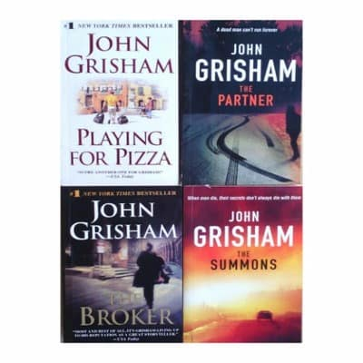 John Grisham: The broker + The Summons + The partner & Playing For Pizza discountshub