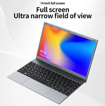 KUU 14.1 Inch 8GB DDR4 RAM 128G 256G SSD Windows 10 Laptop Intel Celeron J4115 Processor Full Size Keyboard Student Notebook discountshub