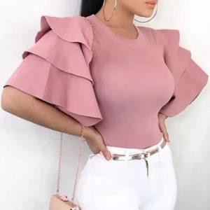 Ladies Women Gorgeous Top - Peach discountshub