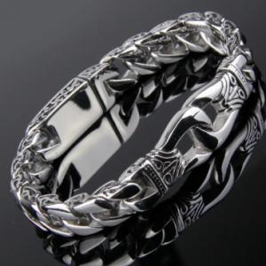Men's Stainless Steel Polished Silver Heavy Huge Curb Link Chain Bracelet Bangle discountshub