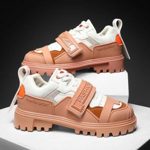 New Men Sneakers Fashion CatWalk Shoes -Brown discountshub