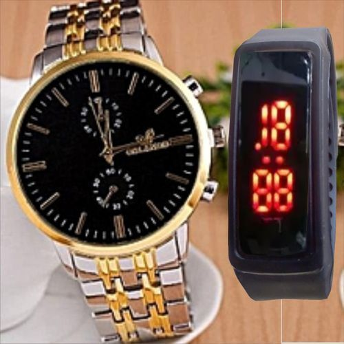 Orlando Men's Watch, Stainless Steel Male Watches + LED Sports Watch discountshub