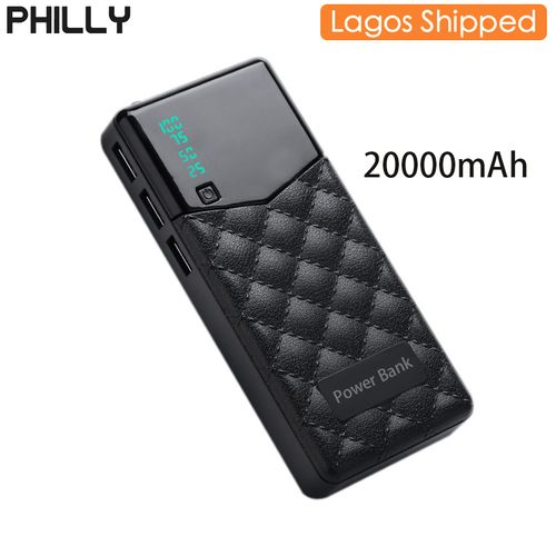 Power Banks Black Charger Battery With LED Light discountshub