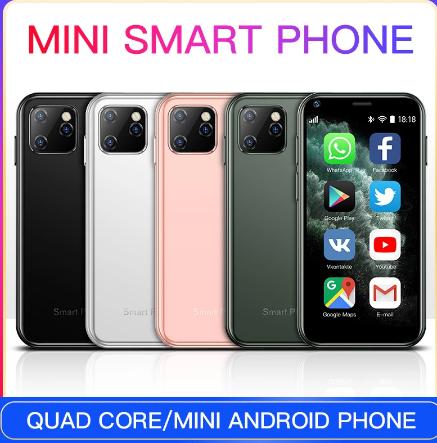 SOYES XS11 Mini Android 6.0 Smartphone 3D Glass Slim Body 1GB 8GB Quad Core 1000mAh Cellphone With Google Play Market discountshub