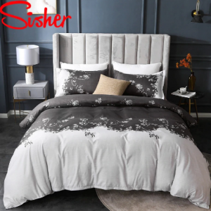 Simple Floral Printed Duvet Cover Set 220x240 Nordic Pastoral Bedding Sets Single Double Queen King Bedclothes (Not Bed Sheet) discountshub