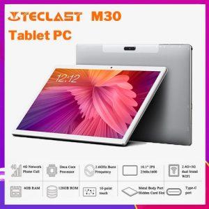"TECLAST M30, Helio X27 10 Core,7500mAh,4G RAM+128G ROM 10.1"" 2.5K Screen Android 8.0 ,OS 4G Phablet Tablet PC discountshub"
