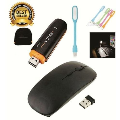 Universal Modem For All Networks With Card Reader Slot + 1 Bendable USB Keyboard & Mouse discountshub