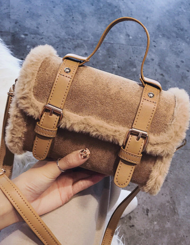Women Plush Bag Handbag Cute Crossbody Bag discountshub