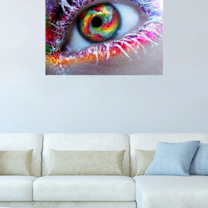 5D DIY Full Diamond Colorful Eyes Canvas Embroidery Painting Cross Stitch Living Room Home Decor discountshub